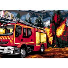 Canevas Luc antique 32/50 x 2 Pompiers - 47