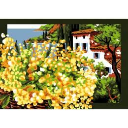 Canevas Luc antique 32/50 x 2 Le mimosa - 47
