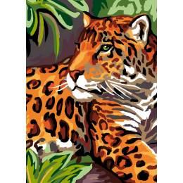 Canevas Luc antique 32/50 x2 léopard - 47