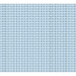 Coupon 80/50 cm. aïda 5.5 100%coton bleu ciel 72 - 47
