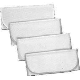 12 poches serviettes aïda biais blanc - 47
