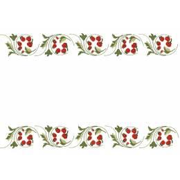 Lot de 2 napperons coton blanc bordés - 47