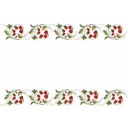 Lot de 2 napperons coton blanc non bordé - 47