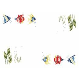Napperons bordés - cbb coton blanc bordés - 47