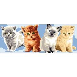 Canevas Luc antique 30/65 les chatons - 47