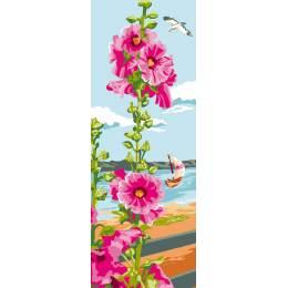 Canevas Luc antique 30/65 Rose tremiere - 47