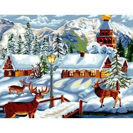 Canevas Luc antique 50/65 village d'hiver - 47