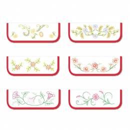 6 poches serviettes c blc fleur b - 47