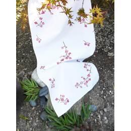 Kit chemin de table imprimé fleurs de cerisiers - 47