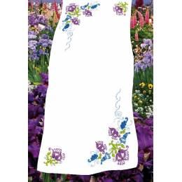 Kit chemin de table imprime Fleurs mauves - 47