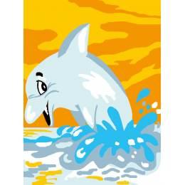Kit canevas blanc 20/25cm dauphin - 47