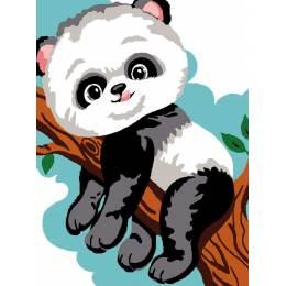 Kit canevas blanc 20/25cm Panda - 47
