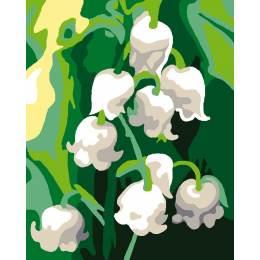 Kit canevas blanc 20/25cm Muguets - 47