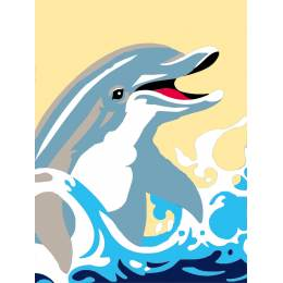 Kit canevas blanc 25/30cm dauphin - 47