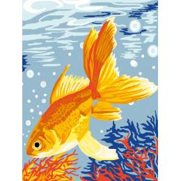 Kit canevas blanc 25/30cm poisson exotique - 47