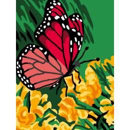 Kit canevas blanc 25/30cm Papillon - 47