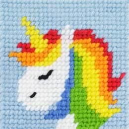 Kit canevas soudan 20x20 rainbow la licorne - 47
