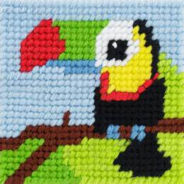 Kit canevas soudan 20x20 Titouan le toucan - 47