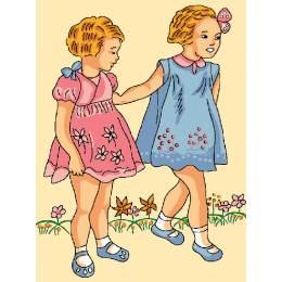 Les deux petites filles au jardin - 47