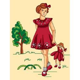 Petite fille avec sa poupée - 47