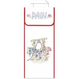 Kit sac à pain 100%coton blanc ganse - 47