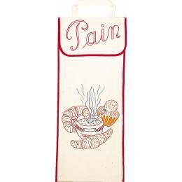Kit sac à pain 100%coton écru ganse - 47