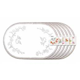 Lot 6 ovale40/60 100%coton blanc bd - 47