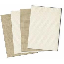 Lot de 4 planches aida pvc 5,5 21/30cm 2 coloris - 47