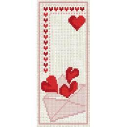 Marque page cœurs - 47