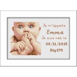 Kit pt compte de naissance emma - 47