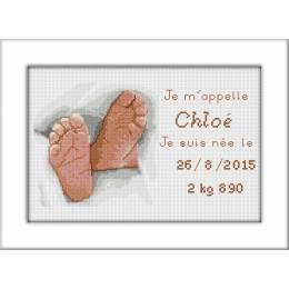 Kit pt compte de naissance chloé - 47