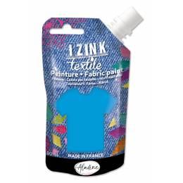 Izink peinture textile Aladine bleu nacré 80 ml - 470