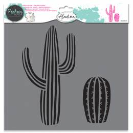 Pochoir textile Aladine cactus - 470