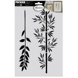 Pochoir Aladine branches bambou 20x30cm