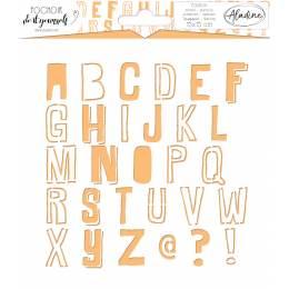 Pochoir diy Aladine 15x15cm alphabet - 470