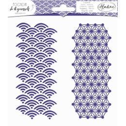 Pochoir diy Aladine 15x15cm géométrique japonais - 470