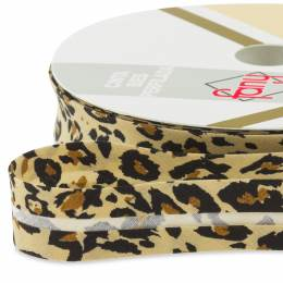 Biais motif léopard 18mm - 471