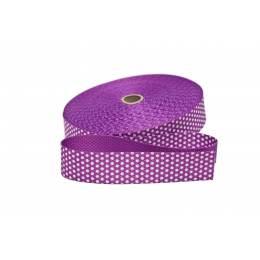 Sangle avec pois 30mm violet - 471
