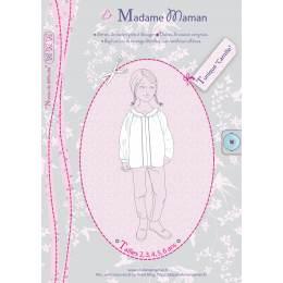 Patron Madame Maman tunique Camille de 8 à 14 ans - 472