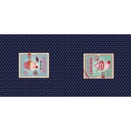 Panneau jersey 70 x 150 cm Stenzo cupcake and dots - 474