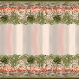 Tissu jersey double bord Stenzo flamingo - 474