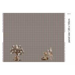 Panneau jersey stenzo deer and tree digital print  - 474