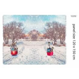 Panneau jersey kabel tram small digital print 120x - 474
