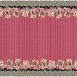 Tissu Stenzo jersey panneau digital print border - 474