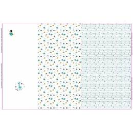 Tissu Stenzo jersey panneau impression digitale - 474
