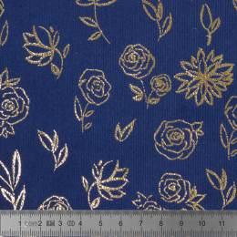 Tissu Stenzo velours milleraies motifs lurex - 474
