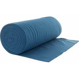 Bord côte jersey tubulaire bleu laize de 35cm - 474