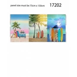 Tissu Stenzo jersey panneau imprimé 75x150cm - 474