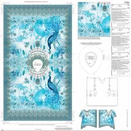 Tissu Stenzo voile coton panneau tunique enfant - 474