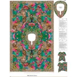 Tissu Stenzo voile coton panneau tunique femme - 474